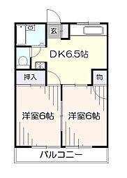 東京都西東京市東町6丁目の賃貸アパートの間取り