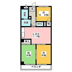 マルサンマンション[3階]の間取り