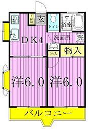 エレナマンション[1階]の間取り