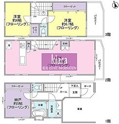 [一戸建] 神奈川県横浜市港北区日吉本町3丁目 の賃貸【/】の間取り