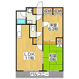 K's Villa堀川[2階]の間取り