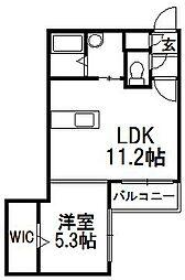 北海道札幌市豊平区月寒中央通11丁目の賃貸マンションの間取り