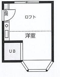 東京都杉並区宮前1丁目の賃貸アパートの間取り
