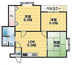クイーンライフIMAZU[5階]の間取り