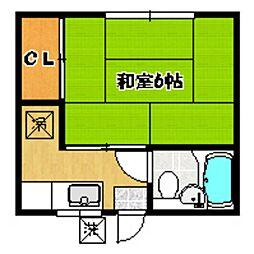 HOUSE TAGOTO[102号室]の間取り