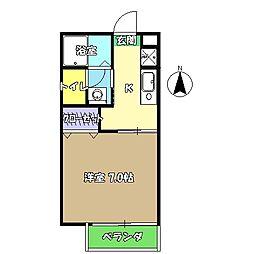 高知県高知市前里の賃貸アパートの間取り