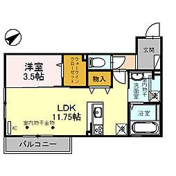 (仮)D-room四十万町[303号室]の間取り