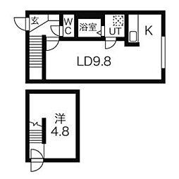 n・blanc(エヌブラン)[3階]の間取り