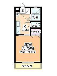 福田ハイツB館[2階]の間取り