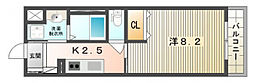 Gluck BLD[2階]の間取り