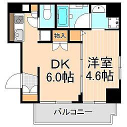 東京都台東区東浅草1丁目の賃貸マンションの間取り