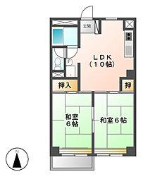 ソレイユ大曽根[3階]の間取り