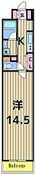 ロイヤルパークスシーサー[6階]の間取り