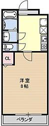 COCO三条天神川[302号室号室]の間取り