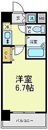 シグネット阿倍野[4階]の間取り