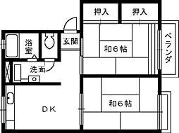 ハイム西取石B[1階]の間取り