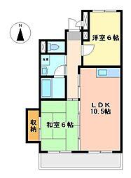 パークハウスYAGUMA[3階]の間取り