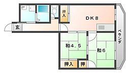 ホープビラ[5階]の間取り