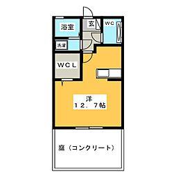 ミアカーサ青池II[1階]の間取り