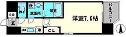 エスリード京橋アミュゼ 6階1Kの間取り
