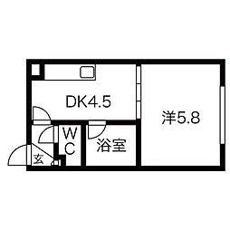 ハイムプレステージ[1階]の間取り