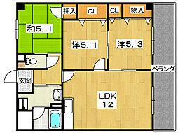 グローバルK[2階]の間取り