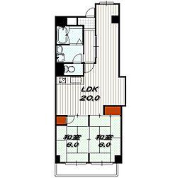 ロイヤル室町[3階]の間取り