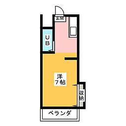 レジデンス岡本[2階]の間取り