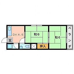 コンフォート・カスガ[2階]の間取り