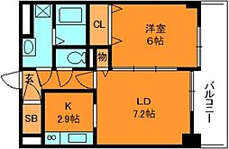 クレメント五位堂[1階]の間取り