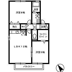 クウラージュ C[2階]の間取り