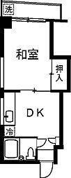 ドム横浜[301号室]の間取り
