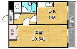 宮之阪ビル[3階]の間取り