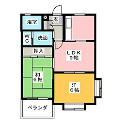 麗乃郷[3階]の間取り