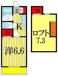 セントヒルズ津田沼3[2階]の間取り