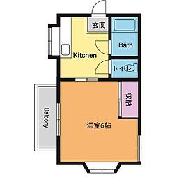 メゾントーマ[1階]の間取り