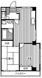 ピュアハイツ長洲[4階]の間取り