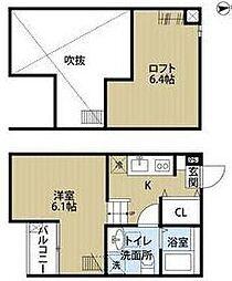 uno新松戸[2階]の間取り