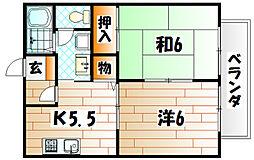 ビーライン風師  B棟[1階]の間取り