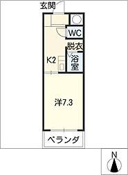 スカイコート大和[4階]の間取り