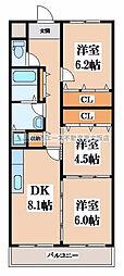 サンパーク寺尾[3階]の間取り