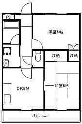 相模中央マンション[6階]の間取り