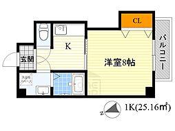 モアメゾン3[6階]の間取り