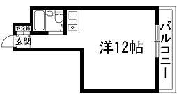 スチューデントルームバラード47[2階]の間取り