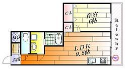 セイントプレイス[4階]の間取り