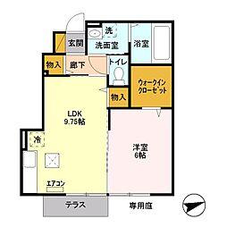 東京都八王子市大船町の賃貸アパートの間取り