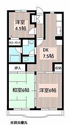 トーア・シティー弐番館[3階]の間取り
