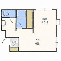 ピースハイツ35[4階]の間取り