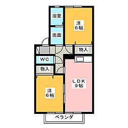 セジュール堂田[2階]の間取り