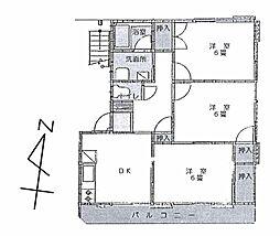 レーベンハイム21B[1階]の間取り